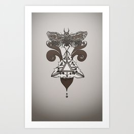 Moth Mediator Art Print