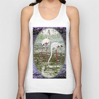 flamingos Tank Tops featuring Flamingos by CrismanArt