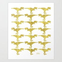 Dinomania GOLDEN Art Print
