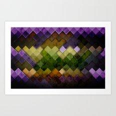 Abstract Cubes GYP Art Print