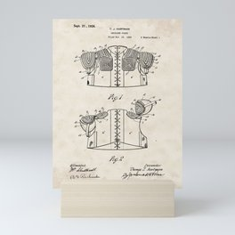 Shoulder Guard Vintage Patent Hand Drawing Mini Art Print