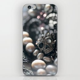 Skull, beads and lace iPhone Skin