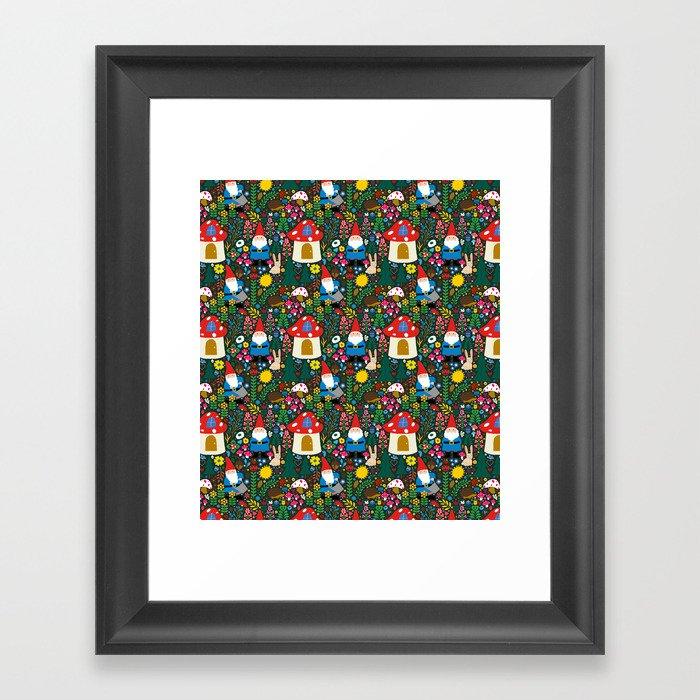 Gnome Home Gerahmter Kunstdruck