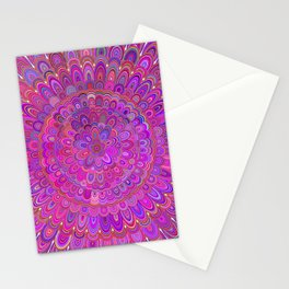 Happy Purple and Pink Mandala Stationery Cards