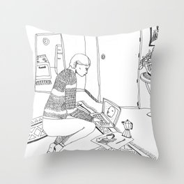 A safe Space Throw Pillow