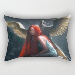 Red Falls Rectangular Pillow