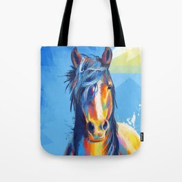 Horse Beauty - colorful animal portrait Tote Bag