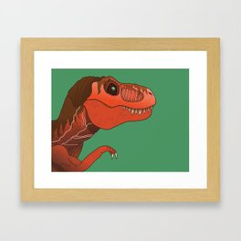 We Have A T-rex Framed Art Print