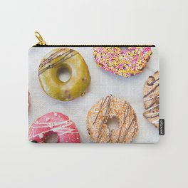 Colorful Donuts on Marble Carry-All Pouch