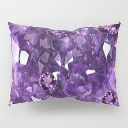FEBRUARY PURPLE AMETHYST GEMS & CRYSTALS BIRTHSTONE Pillow Sham
