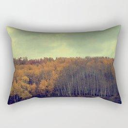 A Fall Aspen Drive Rectangular Pillow