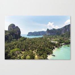 Railay Bay - Rai Leh Beach, Krabi Thailand  -  Tropical Paradise Canvas Print