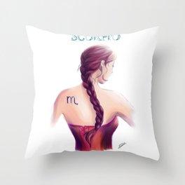 Scorpio Sign - Zodiac series by OccultArt Throw Pillow