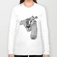 gun Long Sleeve T-shirts featuring gun by VoicesRantOn