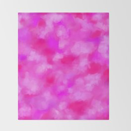 Passion Pink Valentines Abstract Throw Blanket