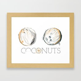 Coconuts Framed Art Print