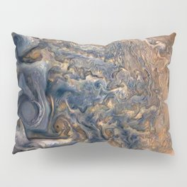 Swirling Clouds of Planet Jupiter Close Up from Juno Cam Pillow Sham