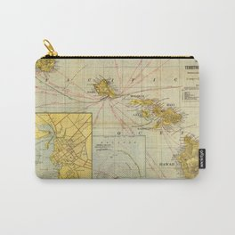 Vintage Map of Hawaii (1901) Carry-All Pouch