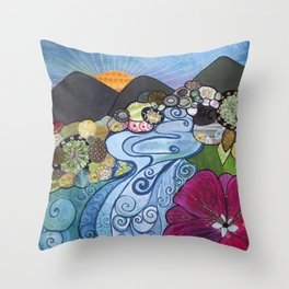 """""""Everything Is Beautiful"""" Throw Pillow"""