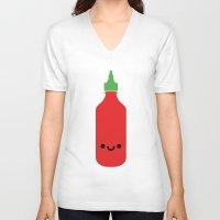sriracha V-neck T-shirts featuring Tương Ớt Sriracha by Tan Nuyen