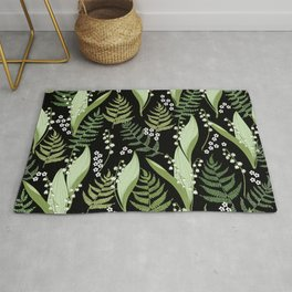 Lilies of the valley and fern Rug