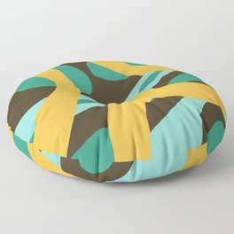 Pocahontas - Colorful Abstract Camouflage Art Floor Pillow