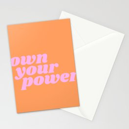 own your power Stationery Cards