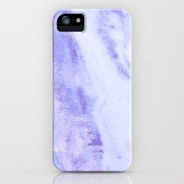 Shimmery Sky Blue Indigo Marble Metallic iPhone Case