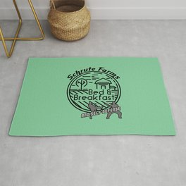 Schrute Farms bed and breakfast and self defense Rug
