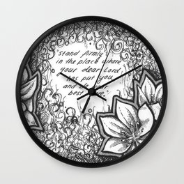 Stand Firm Wall Clock