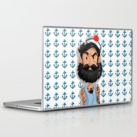 navy Laptop & iPad Skins featuring Navy by Mailys Brau