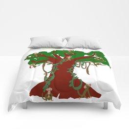 monkey tree Comforters