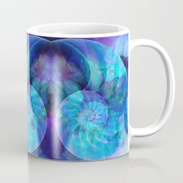 Blue Nautilus Shell  - Seashell Art By Sharon Cummings Coffee Mug