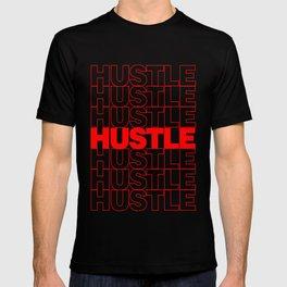 Hustle Thank You Plastic Bag Typography T-shirt