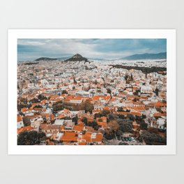 View of Acropolis in Athens Fine Art Print Art Print