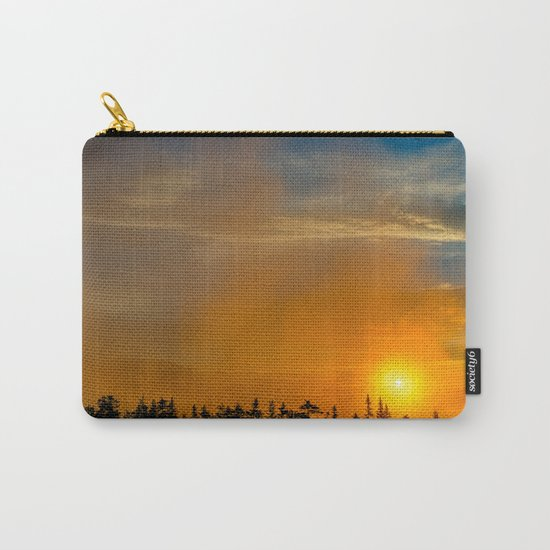 Gold Mist Sunset Carry-All Pouch