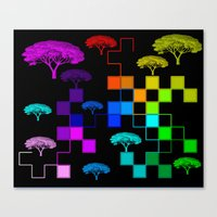 squares and trees Canvas Print