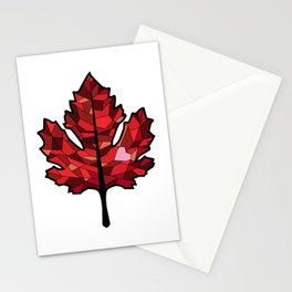 A Maple Leaf with Heart Stationery Cards