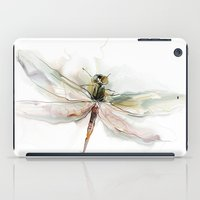 dragonfly iPad Cases featuring dragonfly by tatiana-teni