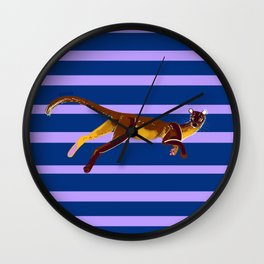 Fossa with color lines #2 Wall Clock