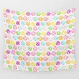 Watercolor pink sprinkle donuts Wall Tapestry
