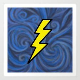 Lightning Swirl Art Print