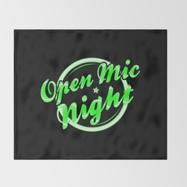 Open Mic Night Florescent Light Throw Blanket