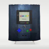 gameboy Shower Curtains featuring GAMEBOY COLOR by Smart Friend