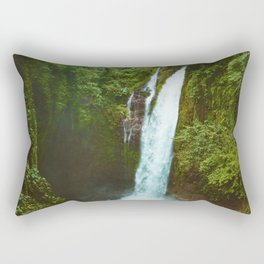 The Valley's Waterfall (Color) Rectangular Pillow