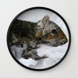Waterfall Squirrel Wall Clock