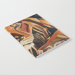 Lion Vector In Cubist Style Notebook