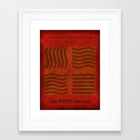 fifth element Framed Art Prints featuring Fire Burns - Fifth Element by Melissa Kay