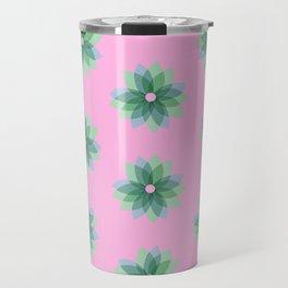 Geo Spring Flowers 03 Travel Mug
