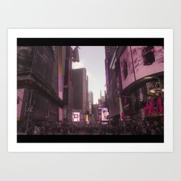 Time Square in the Pink Art Print